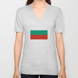 flag of bulgaria -bulgarian, България,български,slav,cyrillic,Sofia,bulgaria Unisex V-Neck