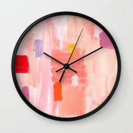 Put Sorrows In A Jar - abstract modern art minimal painting nursery Wall Clock