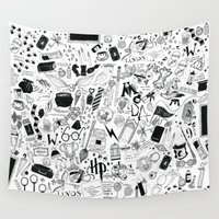 marauders Wall Tapestries featuring Hogwarts, Hogwarts, Hoggy Warty Hogwarts by girlinplaits