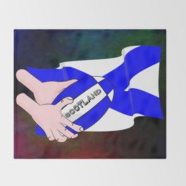 Rugby Scotland Flag Throw Blanket