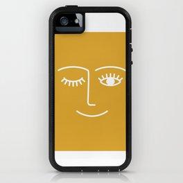 wink / mustard iPhone Case