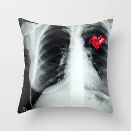 RX_heart Throw Pillow