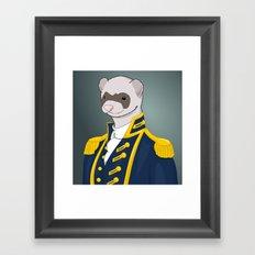 Captain Ferret Framed Art Print