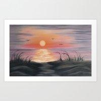 Seaside Sunrise Art Print