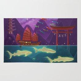 Junk Ship and Glow Sharks Rug