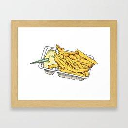 dutch fries Framed Art Print
