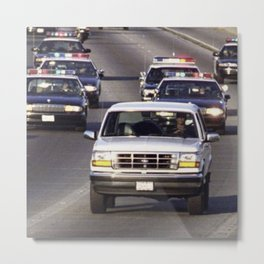 OJ Simpson Car Chase Metal Print