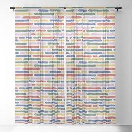 Seamless Summer Pattern Sheer Curtain
