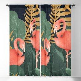 Two Flamingos Blackout Curtain