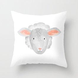Sheep Nursery Throw Pillow