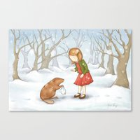 lucy Canvas Prints featuring Lucy by Amanda Francey
