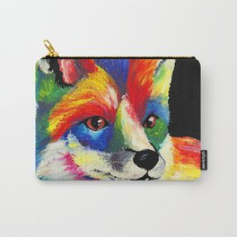 Fox - Black Background Carry-All Pouch