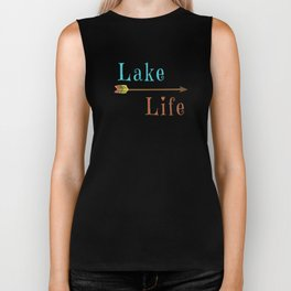 Lake Life - Summer Camp Camping Holiday Vacation Gift Biker Tank