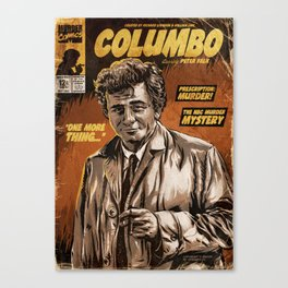 Columbo - TV Show Comic Poster Canvas Print
