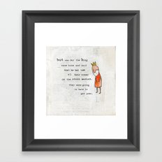 Princess and the Pots page 7 alternative version Framed Art Print