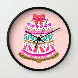 Holiday Bell by Andrea Lauren  Wall Clock