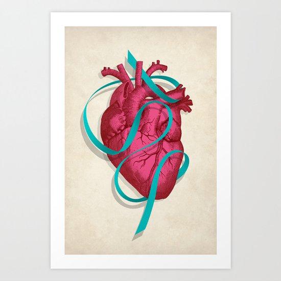 By heart Art Print