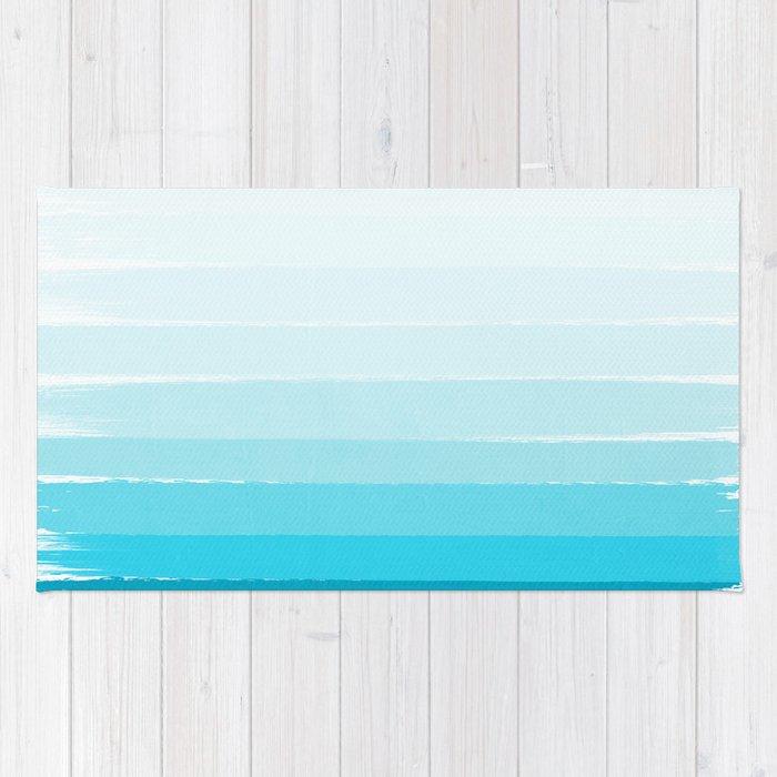 Isla Ombre Brushstroke Blue Turquoise Bright Summer