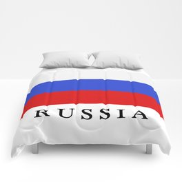 Russia flag Comforters