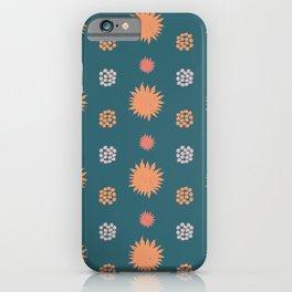 Sunny orange in green iPhone Case