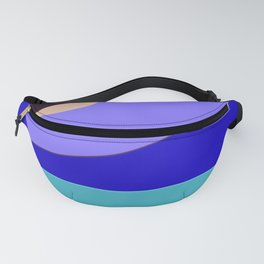 Minimal With Blue Fanny Pack
