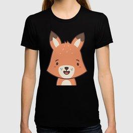 Kawaii Cute Red Fox T-shirt