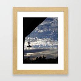 Hummingbird Sky Framed Art Print