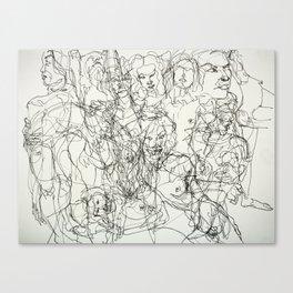 scribblesheet one Canvas Print