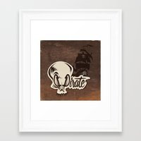 pirate Framed Art Prints featuring Pirate by Tony Vazquez