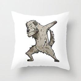 Funny Dabbing Irish Wolfhound Dog Dab Dance Throw Pillow