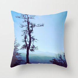 Blue Mountain Throw Pillow