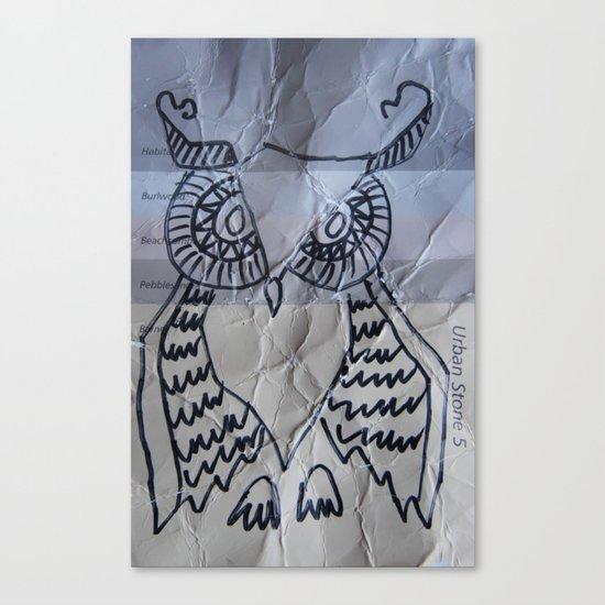 gray owl 02 Canvas Print