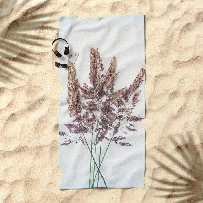 Velvet Grass Beach Towel