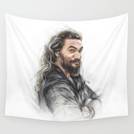 Momoa smile Wall Tapestry