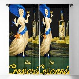 Vintage 1923 La Cressonnee Absinthe Advertisement Poster by Paul Mohr Blackout Curtain