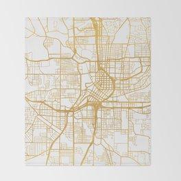 ATLANTA GEORGIA CITY STREET MAP ART Throw Blanket