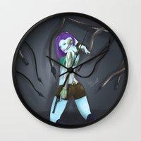 cyberpunk Wall Clocks featuring Cyberpunk by GrazilDesign