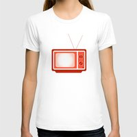 tv T-shirts featuring television by brittcorry