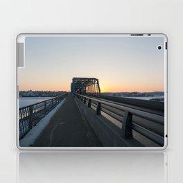 Valentine's bridge sunset Laptop & iPad Skin