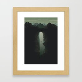 The Last Dive of David Shaw Framed Art Print