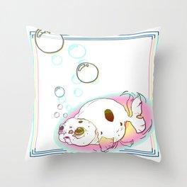 Oscar the Guppy Throw Pillow