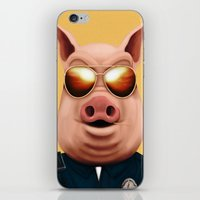 pigs iPhone & iPod Skins featuring PIGS by Brandon Juarez