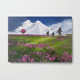 Bigfoot Mountain Meadow Metal Print