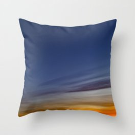 Bright colors of the twilight sky Throw Pillow