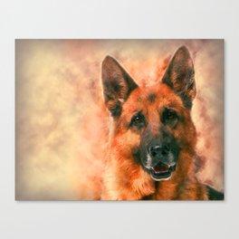 German Shepherd Dog GSD -  Watercolor Canvas Print