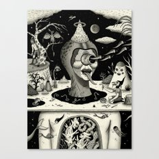 Imminent Disruption of a Nightly Ritual Canvas Print