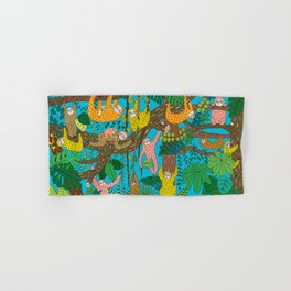 Happy Sloths Jungle Hand & Bath Towel
