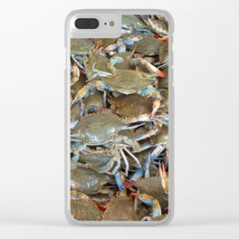Animality: Blue Pinchers. Clear iPhone Case