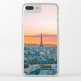 Sunset in Paris (Color) Clear iPhone Case
