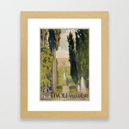 Tivoli Lazio Rome travel ad Framed Art Print